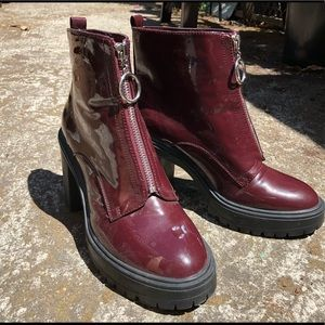 Retro circle zip boots